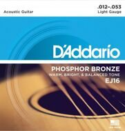 Струны D'Addario EJ16 Phosphor Bronze Light 12-53